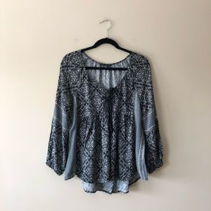 American Eagle Outfitters printed boho style top
